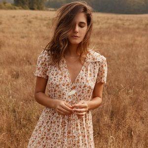 Dawn Dress in Fall Calico